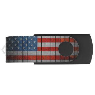 Pen Drive Giratório Cerca pintada da bandeira americana