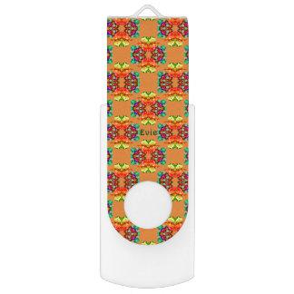 Pen Drive Giratório ~ de Pattern~Personalised EVIE do Fractal da fita