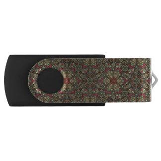 Pen Drive Giratório Design floral do teste padrão do abstrato da