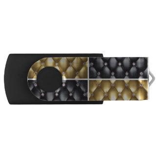 Pen Drive Giratório Design preto do teste padrão da colagem dos