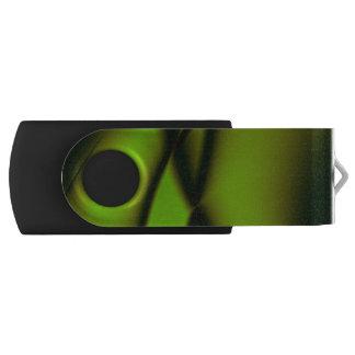 Pen Drive Giratório Design verde elegante do Fractal