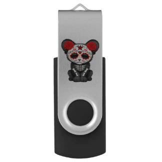 Pen Drive Giratório Dia vermelho da pantera preta inoperante Cub