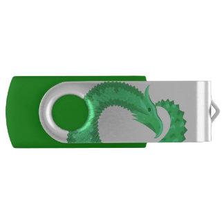 Pen Drive Giratório Dragão verde do coração