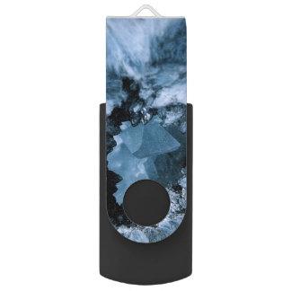 Pen Drive Giratório Fantasia azul de cristal