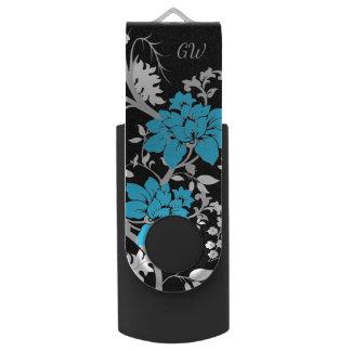 Pen Drive Giratório Floral moderno personalizado