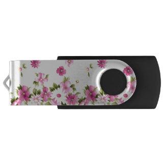 Pen Drive Giratório Flores de florescência femininos coloridas