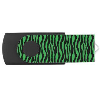 Pen Drive Giratório Impressão verde chique USB da zebra