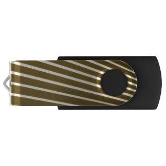 Pen Drive Giratório Linhas brancas movimentação do flash de USB