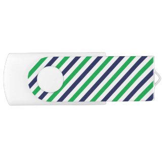 Pen Drive Giratório Listra azul & verde 8 GB USB