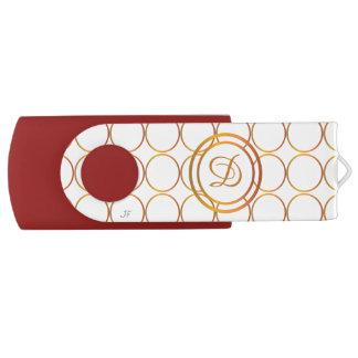 Pen Drive Giratório Monograma dos anéis de ouro