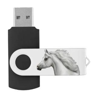 Pen Drive Giratório Movimentação árabe cinzenta do flash de USB do