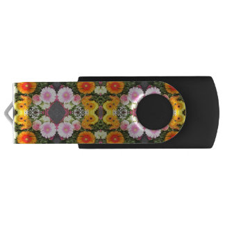 Pen Drive Giratório Movimentação brilhante do flash de USB das flores