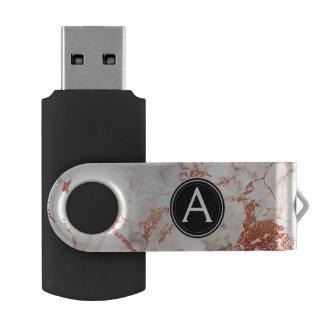 Pen Drive Giratório Movimentação cor-de-rosa do polegar de USB do