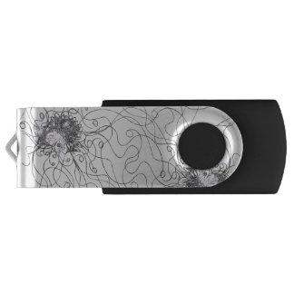 Pen Drive Giratório Movimentação do flash de USB da flor da fantasia