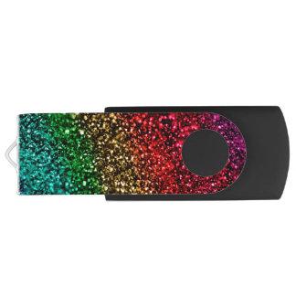 Pen Drive Giratório Movimentação do flash de USB do brilho do