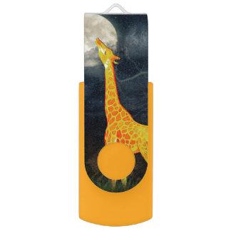 Pen Drive Giratório Movimentação do flash do wivel do girafa e da lua