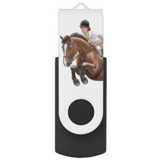 Pen Drive Giratório Movimentação equestre do flash de USB do cavalo da