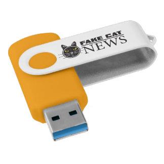 Pen Drive Giratório Movimentação falsificada do flash de USB da