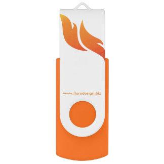Pen Drive Giratório Movimentação marcada de USB do design do