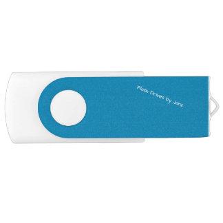 Pen Drive Giratório Movimentações do flash do azul de aço por Janz