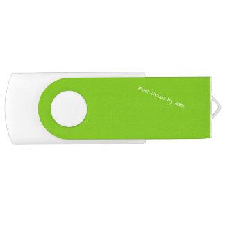 Pen Drive Giratório Movimentações do flash do verde amarelo por Janz