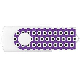 Pen Drive Giratório Ponto roxo & preto, 8 GB, movimentação branca de