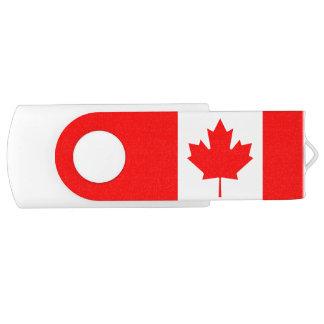 Pen Drive Giratório Qualidade da bandeira de Canadá