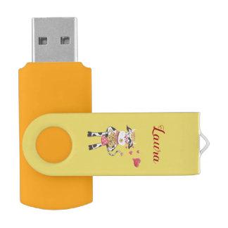 Pen Drive Giratório Snowbell na movimentação do flash do giro de USB