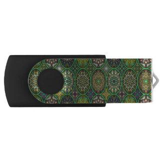 Pen Drive Giratório Teste padrão floral étnico abstrato colorido da