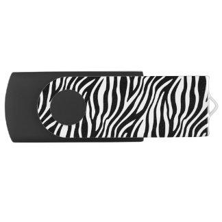 Pen Drive Giratório Teste padrão preto e branco das listras do