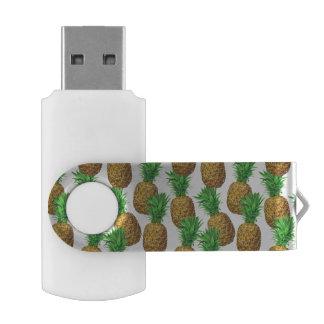 Pen Drive Giratório Teste padrão sem emenda com abacaxis