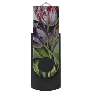 Pen Drive Giratório Trio das tulipas