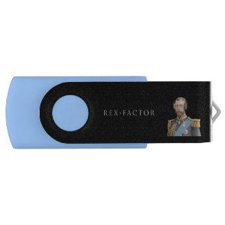 Pen Drive Giratório Vara da memória, azul, George V