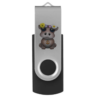Pen Drive Hippie bonito do hipopótamo do bebê