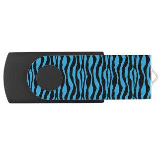 Pen Drive Impressão azul chique USB da zebra