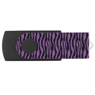Pen Drive Impressão roxo chique USB da zebra