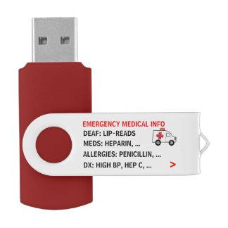 Pen Drive Informação médica da emergência móvel