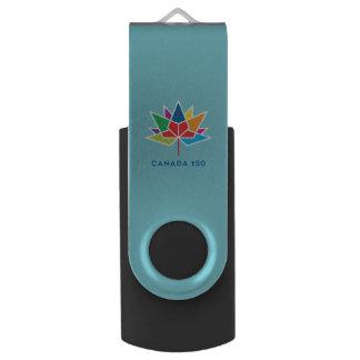 Pen Drive Logotipo do oficial de Canadá 150 - multicolorido