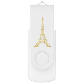 Pen Drive Melhores presentes dourados elegantes da torre
