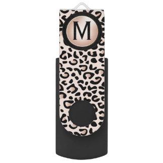 Pen Drive Monograma animal do impressão | DIY do leopardo