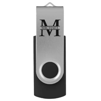 Pen Drive Monograma e nome personalizados