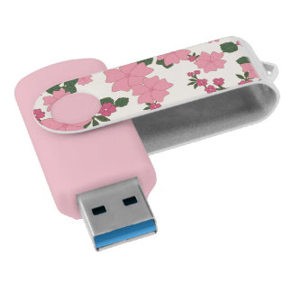 Pen Drive movimentação cor-de-rosa do flash do usb das