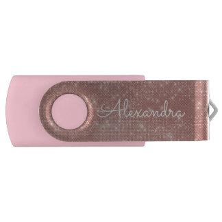 Pen Drive Movimentação cor-de-rosa do polegar de USB do