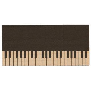 Pen Drive Movimentação de madeira de USB do teclado de piano
