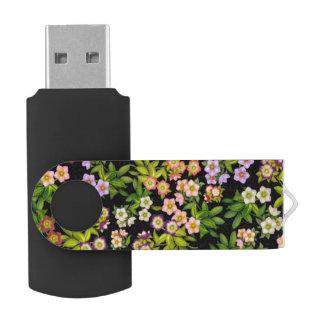 Pen Drive Movimentação do flash de USB 64GB das flores do