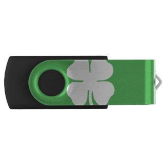 Pen Drive Movimentação do flash de USB da folha do trevo