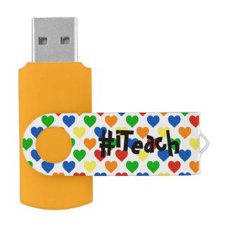 Pen Drive movimentação do flash de USB do iTeach