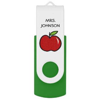 Pen Drive Movimentação vermelha do flash de USB da maçã do