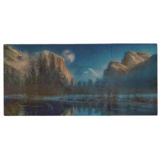 Pen Drive Noite enluarada do parque nacional de Yosemite