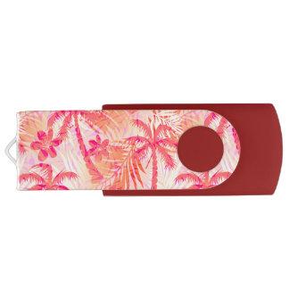 Pen Drive Palmas tropicais vermelhas